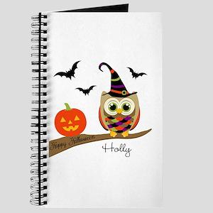 Custom name Halloween owl Journal