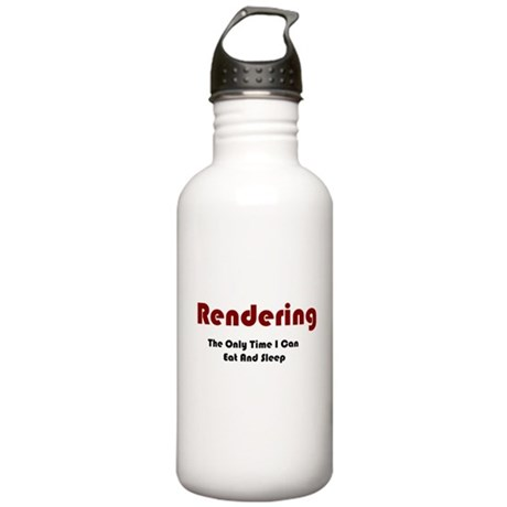 Rendering Lifestyle Stainless Water Bottle 1.0L
