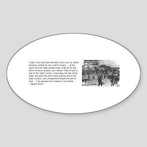 Bayard Rustin Sticker (Oval)