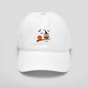Custom name Halloween owl Cap