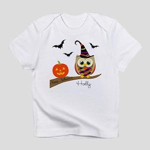 Custom name Halloween owl Infant T-Shirt