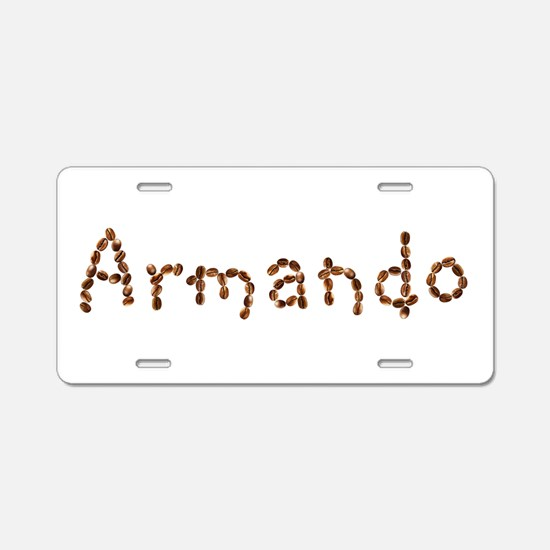 Armando Coffee Beans Aluminum License Plate