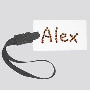Alex Coffee Beans Large Luggage Tag