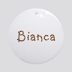 Bianca Coffee Beans Round Ornament