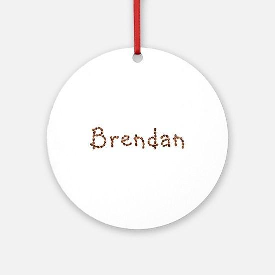 Brendan Coffee Beans Round Ornament