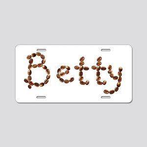 Betty Coffee Beans Aluminum License Plate