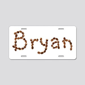 Bryan Coffee Beans Aluminum License Plate