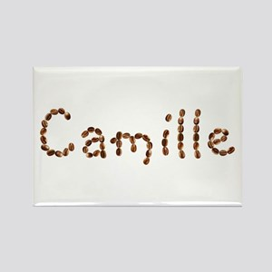 Camille Coffee Beans Rectangle Magnet