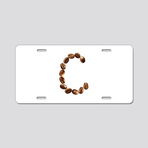 C Coffee Beans Aluminum License Plate