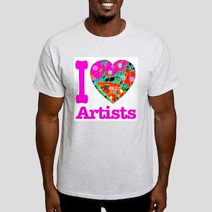 I Love Artists Light T-Shirt