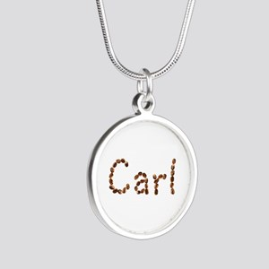 Carl Coffee Beans Silver Round Necklace