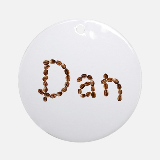 Dan Coffee Beans Round Ornament