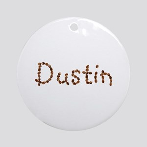 Dustin Coffee Beans Round Ornament