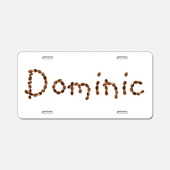 Dominic Coffee Beans Aluminum License Plate