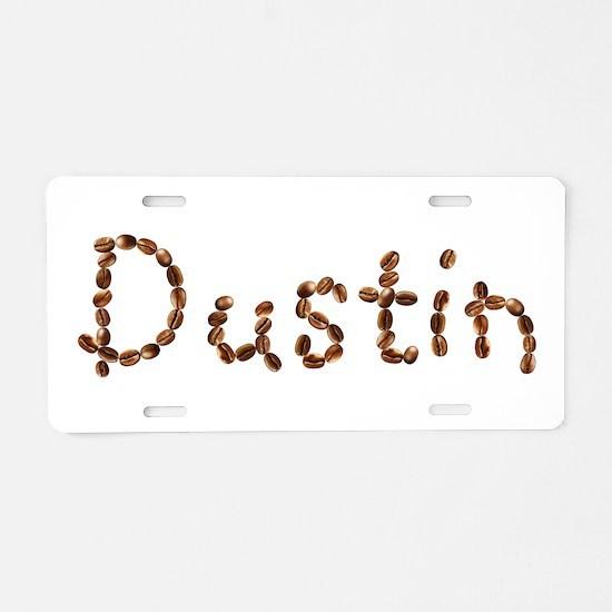 Dustin Coffee Beans Aluminum License Plate