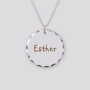 Esther Coffee Beans Necklace Circle Charm