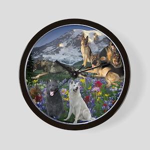German Shepherd Country Wall Clock