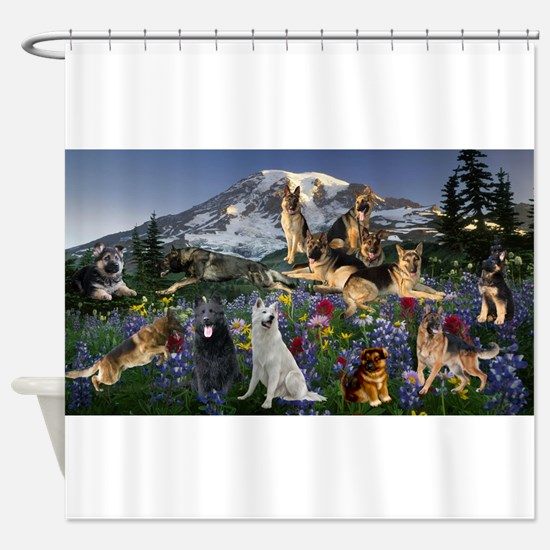 German Shepherd Country Shower Curtain