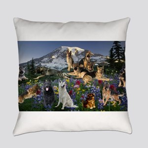 German Shepherd Country Everyday Pillow