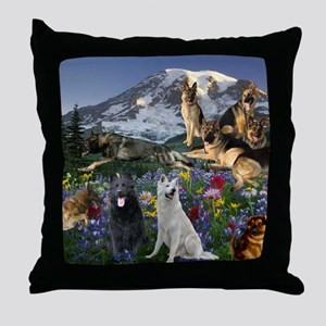 German Shepherd Country Throw Pillow