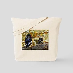 Wood Duck Pair Tote Bag
