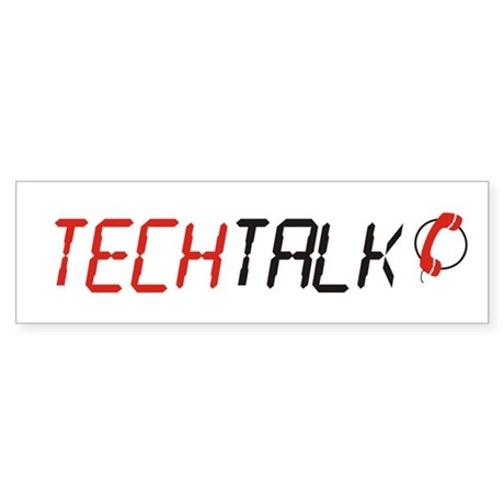 TechTalk Bumper Sticker