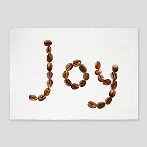 Joy Coffee Beans 5'x7' Area Rug