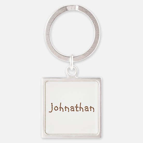 Johnathan Coffee Beans Square Keychain