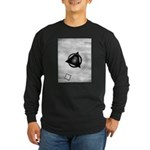 Point To The Moon Long Sleeve Dark T-Shirt