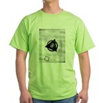 Point To The Moon Green T-Shirt