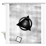 Point To The Moon Shower Curtain