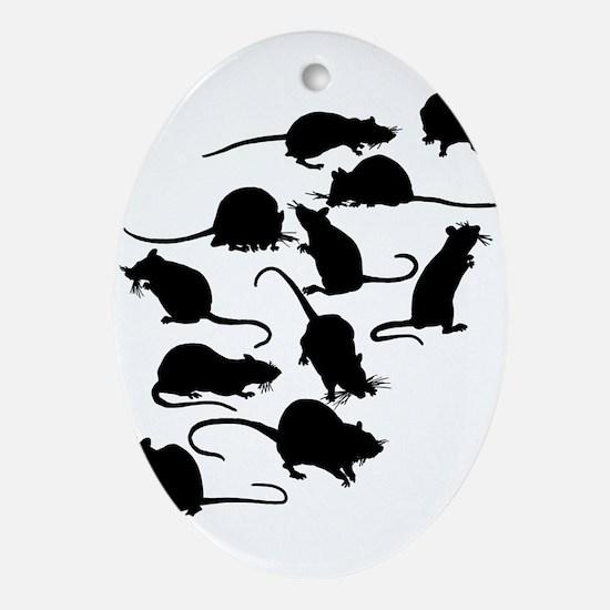 Lots Of Rats Ornament (Oval)