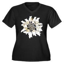 Rat King Women's Plus Size V-Neck Dark T-Shirt