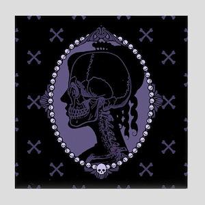 Gothic Skull Cameo Tile Coaster