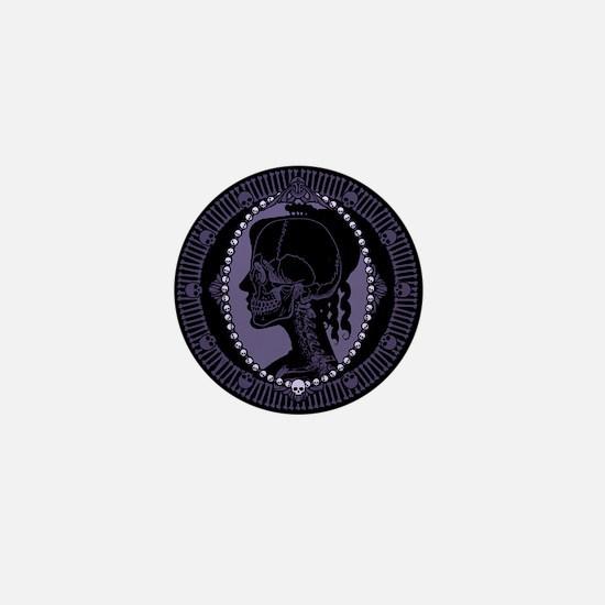 Gothic Skull Cameo Mini Button