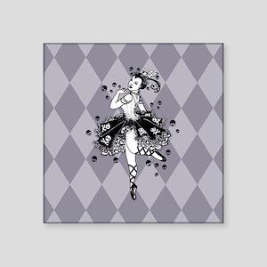 "Gothic Ballerina Square Sticker 3"" x 3"""