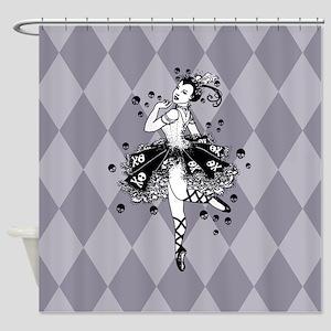Gothic Ballerina Shower Curtain