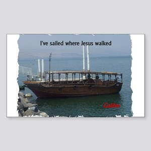 I've Sailed Where Jesus Walked Sticker (Rectangle)