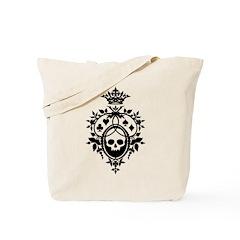 Gothic Skull Crest Tote Bag