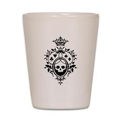 Gothic Skull Crest Shot Glass