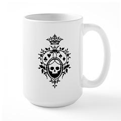 Gothic Skull Crest Large Mug