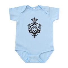 Gothic Skull Crest Infant Bodysuit
