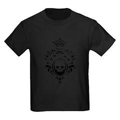 Gothic Skull Crest Kids Dark T-Shirt