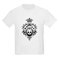 Gothic Skull Crest Kids Light T-Shirt