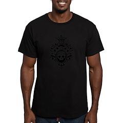 Gothic Skull Crest Men's Fitted T-Shirt (dark)