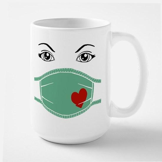 Hospital Mask Large Mug
