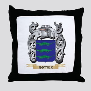 Cotter Family Crest - Cotter Coat of Throw Pillow