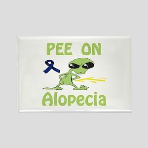 Pee on Alopecia Rectangle Magnet