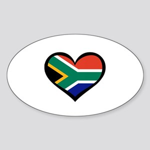 South Africa Love Heart Rectangle Sticker