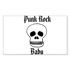 Punk Rock Baby - Skull Rectangle Decal